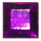 6mm Square Purple Diamante Stones
