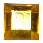 6mm Square Yellow Diamante Stones
