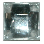 9mm Square Raised Clear Diamante Stones