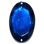 30mm Blue Oval Gem Sew On