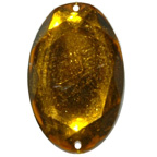 30mm Gold Oval Gem Sew On