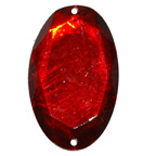 30mm Red Oval Gem Sew On