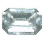 6mm Clear Hexagon Gem Chiselled Back