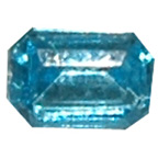 6mm Blue Hexagon Gem Chiselled Back