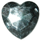 30mm Clear Heart Gem