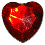 30mm Red Heart Gem