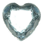 11mm Clear Heart Gem
