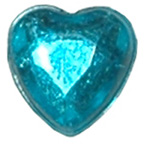 6mm Turquoise Heart Gem