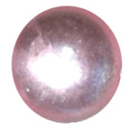 5mm Pink Water Droplet Round Gem