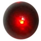 5mm Red Water Droplet Round Gem