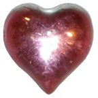 15mm Pink Water Droplet Heart Gem