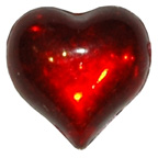 Red Water Droplet Heart Gem