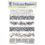 Acrylic Stamp Set Delicate Patterns 6pcs