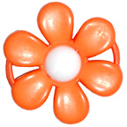 Embellishment Buckle Flower Orange