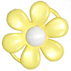 Embellishment Buckle Flower Yellow