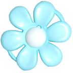 Plastic Embellishment Flower Blue
