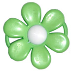 Embellishment Buckle Flower Green