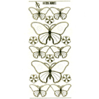 Clear with Gold Stickers Butterfly 11-18