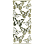 Clear with Gold Stickers Butterfly 579-18
