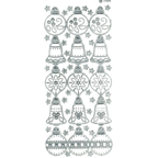 Clear with Silver Stickers Christmas Decorations 29-19