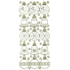 Clear with Gold Stickers Christmas Decorations 29-18
