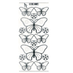 Clear with Silver Stickers Butterflies 11-19