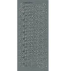 Silver Stickers Merry Christmas Banner 511-02