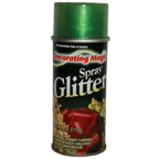 Decorating Magic Spray Glitter 4oz Green