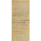 Gold Stickers Uppercase Funky 14-01