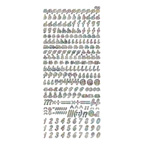 Clear Stickers Lowercase 52-08