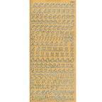 Gold Stickers Uppercase Cursive 53-01