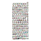 Clear Stickers Uppercase 53-08