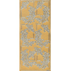 Gold Stickers Floral Corners 195-01