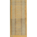 Gold Stickers Borders Assorted Lines & Flowers 212-01