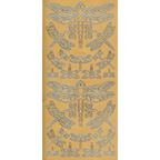 Gold Stickers Dragonflies 228-01