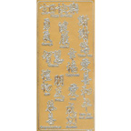 Gold Stickers Oriental Text 305-01