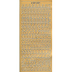 Gold Stickers Uppercase 418-01
