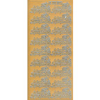 Gold Stickers With Sympathy 474-01