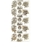 Clear with Gold Stickers Christmas Holly Candles Bells 533-18
