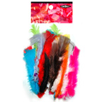 Arbee Bag of Multi Coloured Feathers 10g