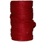 5mm Jute Coloured Red