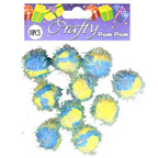 Pom Poms Yellow and Blue
