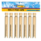Craft Wood Dolly Pegs 24 Pkt