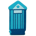 Craft Wood Beach House Blue Embellishment