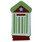 Craft Wood Beach House Green Embellishment