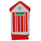 Craft Wood Beach House Red Embellishment