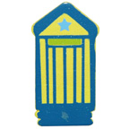 Craft Wood Beach House Yellow Embellishment