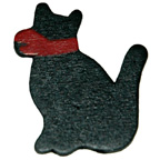 Craft Wood Black Cat Embellishment