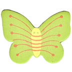 Craft Wood Butterfly Green Embellishment