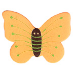 Craft Wood Butterfly Orange Embellishment
